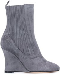 Alchimia Di Ballin - Ribbed Wedge Ankle Boots - Lyst
