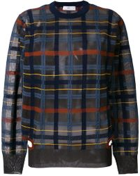 Toga Pulla - Checked Sheer Jumper - Lyst