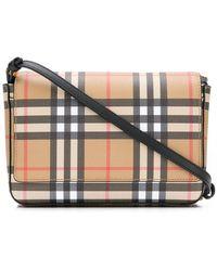 4eaad04f0b Burberry - Hampshire Vintage Check Crossbody Bag - - Lyst