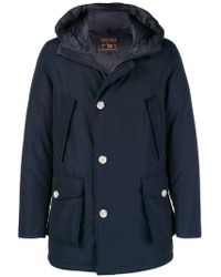 Woolrich - Front Pocket Hooded Coat - Lyst