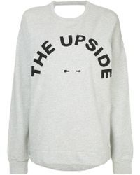 The Upside - Logo Embroidered Sweatshirt - Lyst