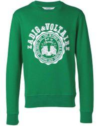 Zadig & Voltaire - Steeve Logo Print Sweatshirt - Lyst