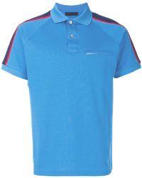 Prada - Shoulder Stripe Polo Shirt - Lyst