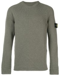 Stone Island - Long-sleeve Fitted Sweater - Lyst