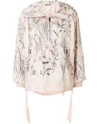 Bottega Veneta - Botanical Print Polyester Jacket - Lyst