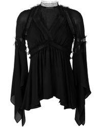 Plein Sud - V-neck Layered Dress - Lyst