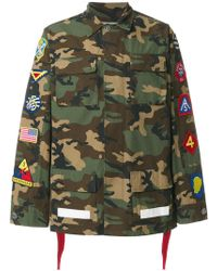 Off-White c/o Virgil Abloh - Camouflage Patch Cargo Jacket - Lyst