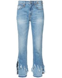 R13 | Distressed Detail Jeans | Lyst