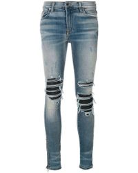 Amiri - Mx1 Knee-patches Skinny Jeans - Lyst