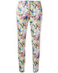 Ultrachic - Garbage Print Skinny Trousers - Lyst