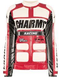 Charm's Байкерская Куртка Из Коллаборации С Kappa - Красный
