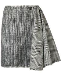 AALTO - Check Mix Mini Skirt - Lyst