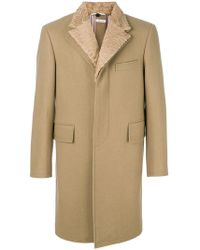 Thom Browne - Detachable Fur Collar And Lapel Pilot Cloth Button-back Chesterfield - Lyst