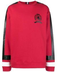 Tommy Hilfiger - Logo Side-stripe Sweatshirt - Lyst