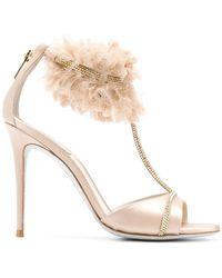 Rene Caovilla - Embellished Ankle Strap Sandals - Lyst