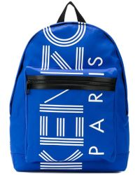 KENZO - Large Logo Backpack French Blue - Lyst