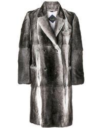 Billionaire - Double Breasted Fur Coat - Lyst