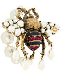 Gucci - Embellished Bee Bracelet - Lyst