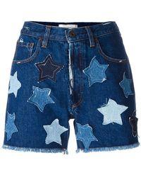 Faith Connexion - Denim Shorts With Stars - Lyst