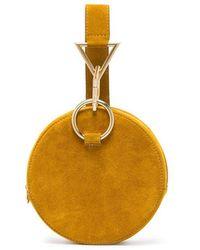 Tara Zadeh - Yellow Azar Suede Bracelet Bag - Lyst
