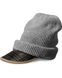 Burberry - 1983 Check Wool Cashmere Peaked Beanie - Lyst