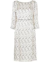 AALTO - Floral Print Midi Dress - Lyst