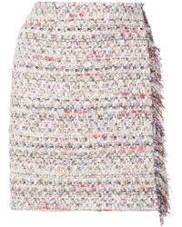Adam Lippes - Tweed Mini Wrap Skirt - Lyst
