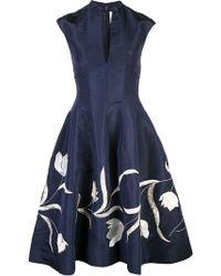 Oscar de la Renta - Vestido de cóctel con bordado de tulipanes - Lyst