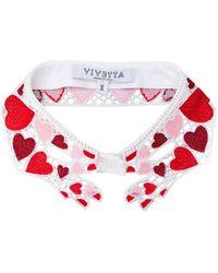 Vivetta - Heart Embroidered Collar - Lyst