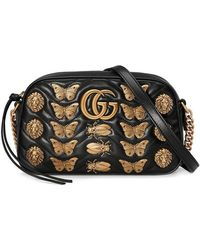 Gucci - Gg Marmont Animal Studs Shoulder Bag - Lyst
