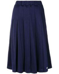 Stussy - Pleated Midi Skirt - Lyst