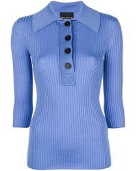 Erika Cavallini Semi Couture - Ribbed Polo Knit - Lyst