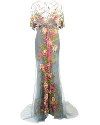 Marchesa - Embroidered Floral Gown - Lyst