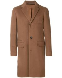 Officine Generale - Single-breasted Buttoned Coat - Lyst