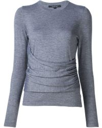 Derek Lam - Long Sleeve Top With Gathered Side Detail - Lyst