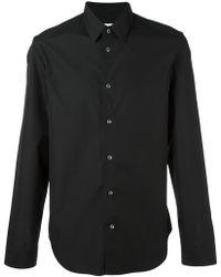 b29e4ef54279 Lyst - Maison Margiela Black Garment-dyed Shirt in Black for Men