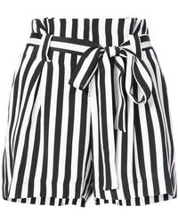 L'Agence - Striped Shorts - Lyst