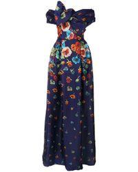 Carolina Herrera - Kleid mit Blumenmuster - Lyst