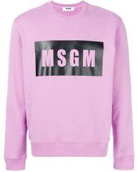 MSGM - Branded Sweatshirt - Lyst
