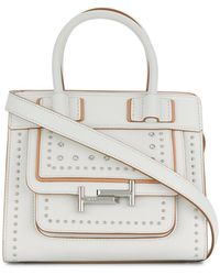 Tod's - Double T Studded Crossbody Bag - Lyst