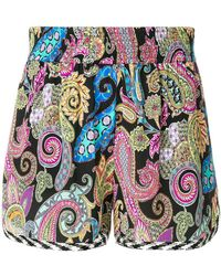 Etro - Paisley Printed Shorts - Lyst