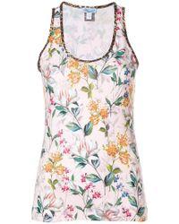 Blumarine - Sleeveless Floral Top - Lyst
