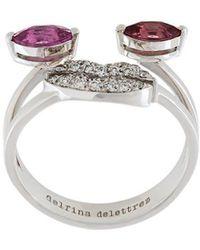 Delfina Delettrez - Face Embellished Ring - Lyst