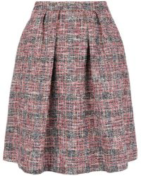 PS by Paul Smith - Flared Tweed Skirt - Lyst