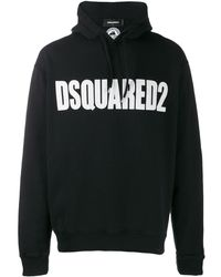 DSquared² ロゴ ニットパーカー - ブラック