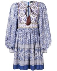DSquared² - Printed Mini Dress - Lyst