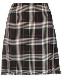 Pinko - Frayed Plaid Skirt - Lyst