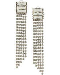 Alberta Ferretti - Crystal Waterfall Earrings - Lyst