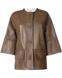 Marni - Perforated Leather Jacket - Lyst