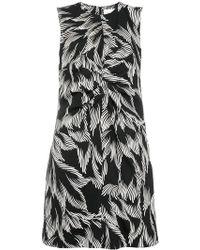 Victoria, Victoria Beckham - Foliage Print Shift Dress - Lyst